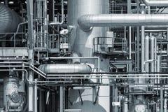 Raffinerierohrleitung Stockbild