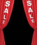 Raffinez les rideaux en vente Photo stock