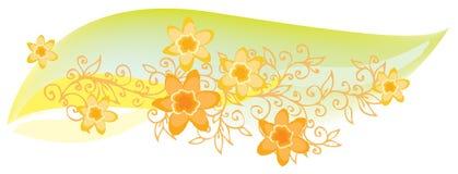 Raffinierte Blumenvignette in der Farbe Lizenzfreie Stockfotos