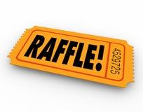 Raffle Biletowy słowo Wchodzić do konkursu zwycięzcy nagrody rysunek Zdjęcia Royalty Free