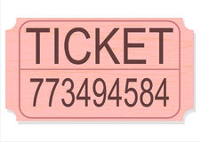 Raffle or contest ticket isolation vector Royalty Free Stock Photography