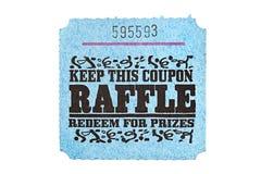 raffle klasyczny bilet Zdjęcie Royalty Free
