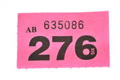 Raffle ticket Royalty Free Stock Images
