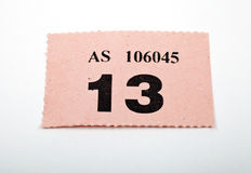 A Raffle Ticket Royalty Free Stock Photo