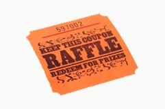 Raffle Ticket. Isolated Raffle Ticket Stock Image
