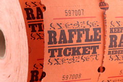 Raffle Ticket Royalty Free Stock Photos