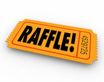 Raffle Ticket Word Enter Contest Winner Prize Drawing Royalty Free Stock Photos