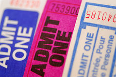 Raffle tickets Royalty Free Stock Images