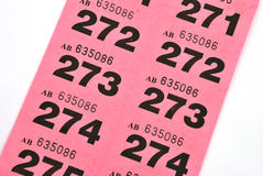 Raffle tickets Stock Photos