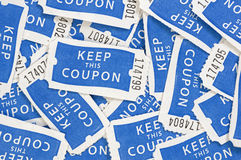 Raffle Tickets Background Stock Photography