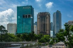 Raffles Hospital, Singapore. Raffles Hospital taken from Rochor on a` sunny day day in May 2018 Royalty Free Stock Photos