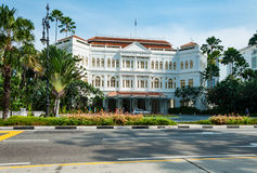 The Raffles Hotel in Singapore Royalty Free Stock Photos