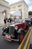 Raffles Landing Site, Singapore - July 27, 2008 : Vintage Armstrong Siddeley in concours Royalty Free Stock Photo