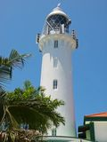 Raffles Lighthouse. Lighthouse against clear blue sky Stock Images