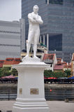 Raffles, the man. Statue of Sir Thomas Stamford Raffles, (6 July 1781 – 5 July 1826), a British statesman, best known for his founding of the city of Singapore Royalty Free Stock Image