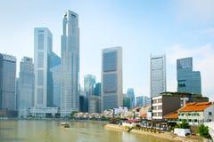 Raffles place, Boat Quay. Singapore Royalty Free Stock Photo