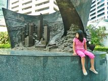 Raffles place Royalty Free Stock Photography