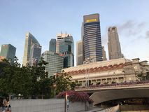 Raffles Place in Singapore Stock Photos