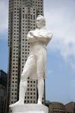 Raffles statuę, Singapur zdjęcia stock
