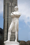 Raffles statue, Singapore. Famous Raffles statue in Singapore Stock Photos