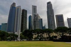 Raffles umieszczają, cty Singapore obraz stock