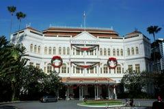Raffleshotellet Singapore fotografering för bildbyråer