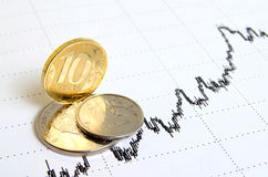 Rafforzamento della rublo Immagini Stock Libere da Diritti