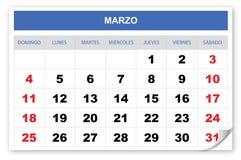 Raffreddi ed immagini lo Spagnolo del calendario 2018 illustrazione vettoriale
