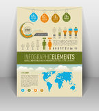 Raffreddi gli elementi infographic per il web e stampi l'uso Immagini Stock