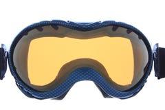 Raffreddi gli occhiali di protezione blu del pattino fotografie stock