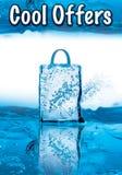 Raffreddi le offerte per la vendita di inverno con effetto ghiacciato Immagine Stock