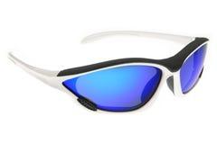 Raffreddi, modo ed occhiali da sole blu di sport immagine stock