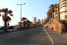 Rafic Hariri Avenue, Beirut. Rafic Hariri Avenue on the Beirut coastline at Ramlet el Baida Stock Images