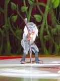 Rafiki на коньках Стоковое Фото