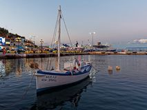 Rafina Port at Dusk, Greece Stock Photo