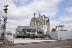 Rafineria i Przemysłowy zakład przetwórczy obrazy stock