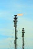 Rafineria ogienia gazu pochodnia zdjęcie royalty free