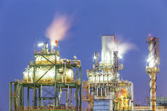 Rafineria ropy naftowej Obraz Royalty Free