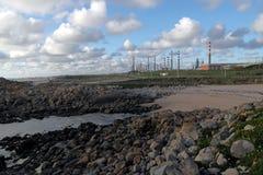 Rafineria ropy naftowej morzem Zdjęcie Royalty Free