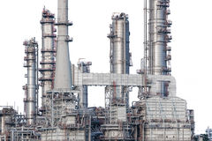 Rafineria ropy naftowej odizolowywająca Zdjęcie Royalty Free