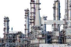 Rafineria ropy naftowej odizolowywająca Fotografia Stock