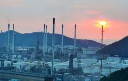 Rafineria ropy naftowej, produkt naftowy przemysłowy Zdjęcie Royalty Free