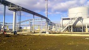 Rafineria ropy naftowej w budowie Pojemność alkalinization obrazy stock