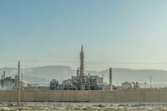 Rafineria w pustyni Egipt obraz stock