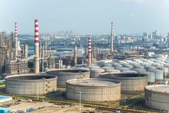 Rafinerie i udostępnienia Fotografia Stock