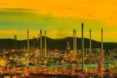 Rafinerie Ropy Naftowej Zdjęcia Stock