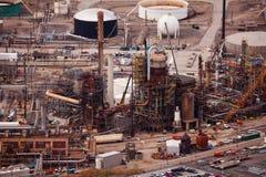 Rafinerie ropy naftowej podczas dnia czasu, Salt Lake miasto, USA Zdjęcie Royalty Free