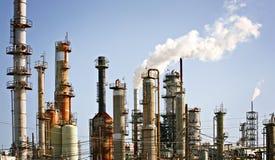 Rafinerii roślina, przemysł paliwowy zdjęcie stock