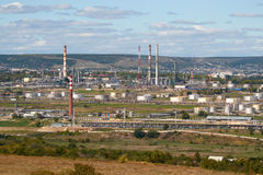 Rafinerii ropy naftowej fabryka Zdjęcie Royalty Free
