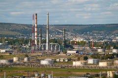 Rafinerii ropy naftowej fabryka Zdjęcia Royalty Free